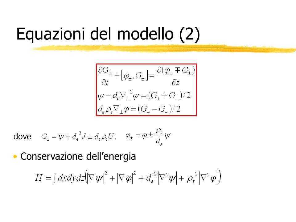 Equazioni del modello (2)