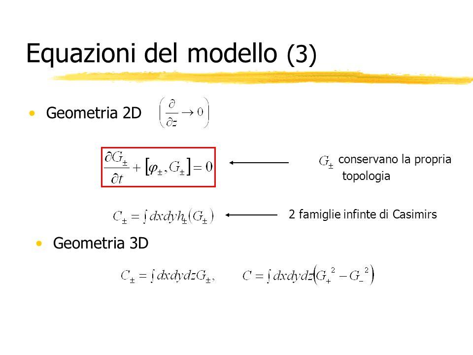 Equazioni del modello (3)