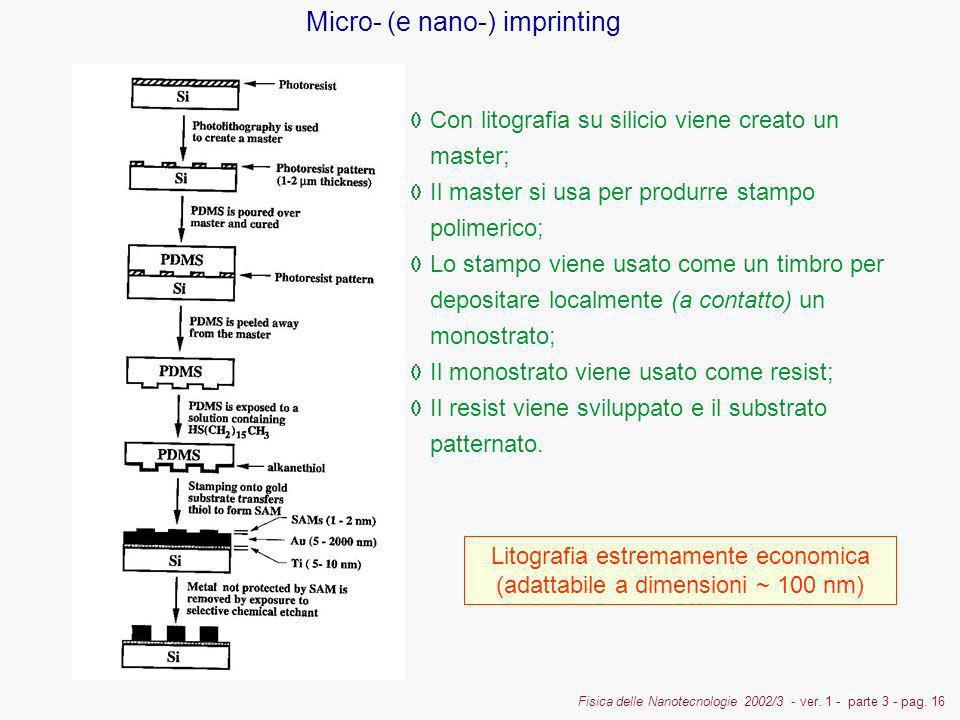 Litografia estremamente economica (adattabile a dimensioni ~ 100 nm)