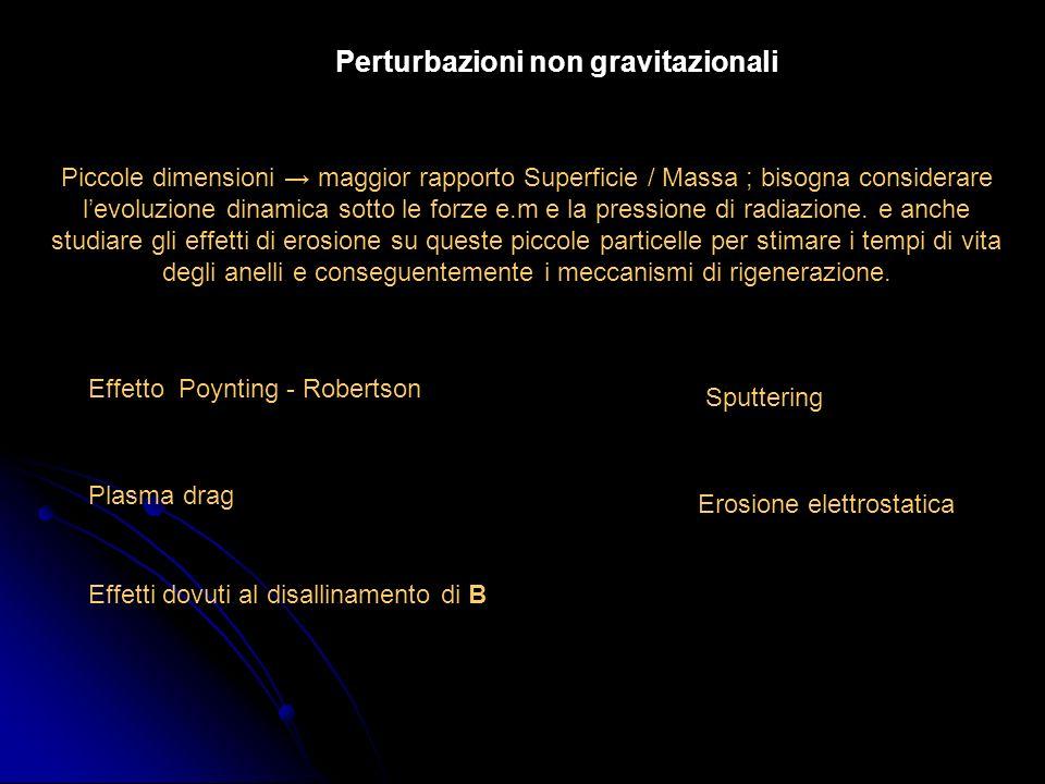 Perturbazioni non gravitazionali