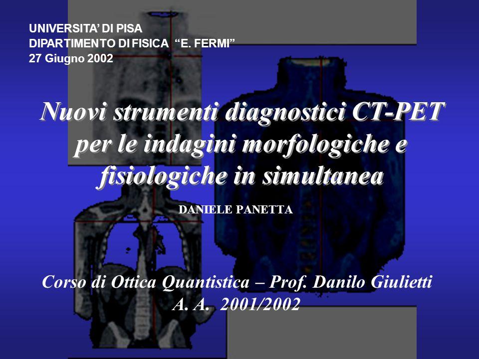 Corso di Ottica Quantistica – Prof. Danilo Giulietti