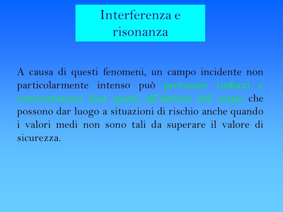 Interferenza e risonanza