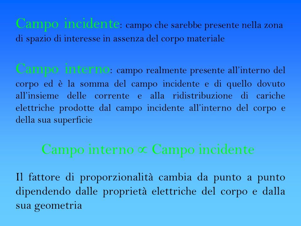 Campo interno  Campo incidente