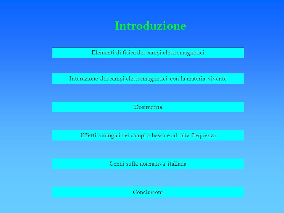 Introduzione Elementi di fisica dei campi elettromagnetici