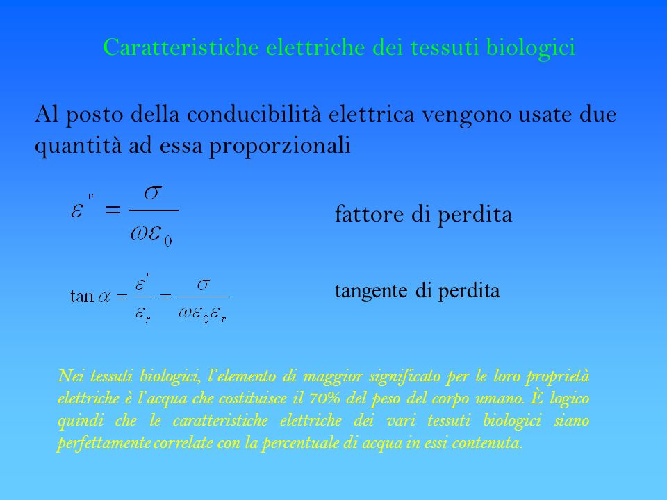 Caratteristiche elettriche dei tessuti biologici