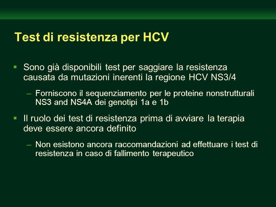Test di resistenza per HCV