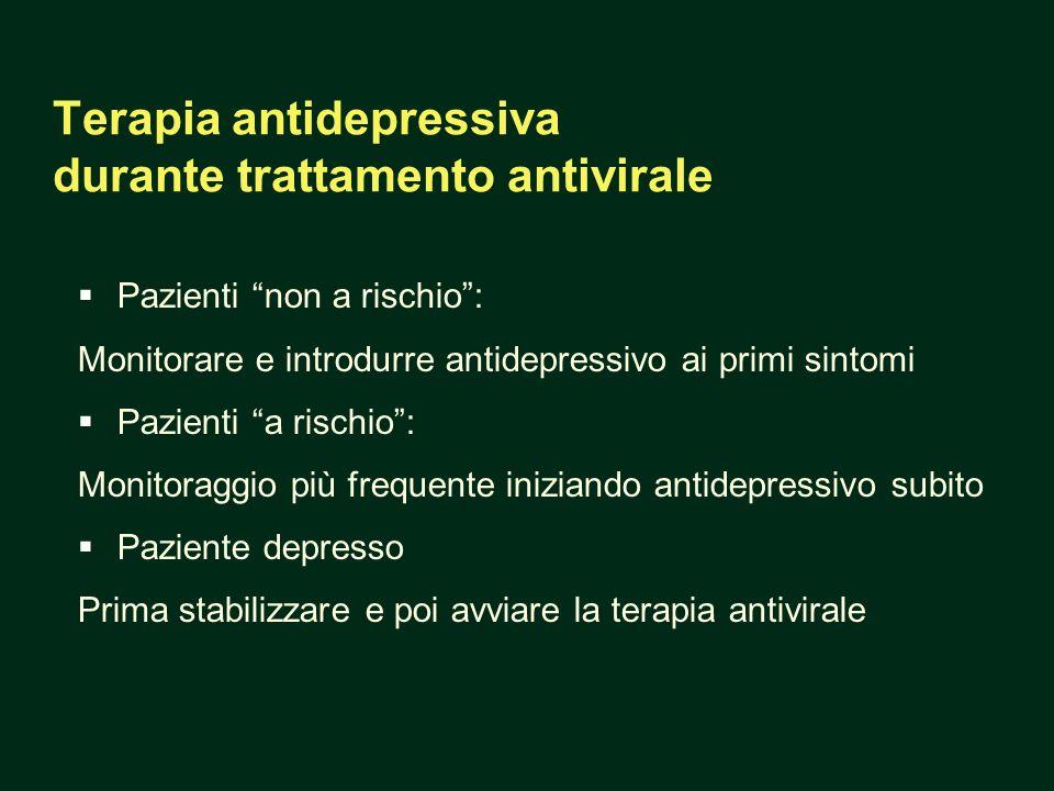 Terapia antidepressiva durante trattamento antivirale