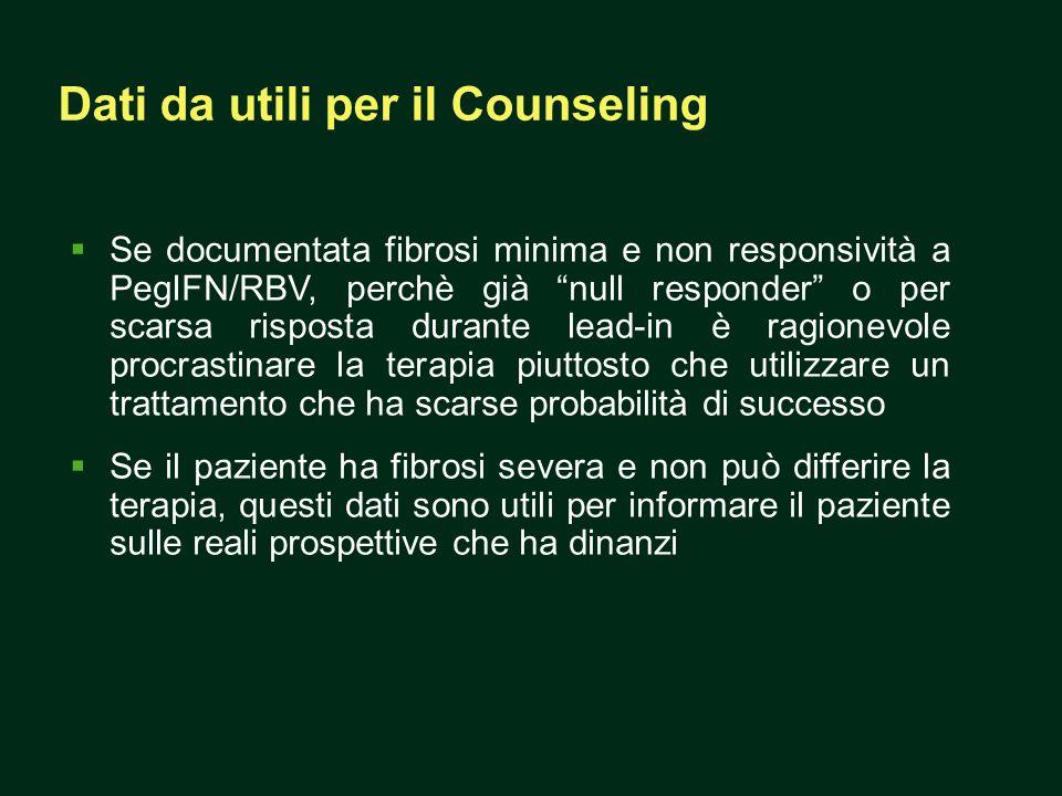 Dati da utili per il Counseling