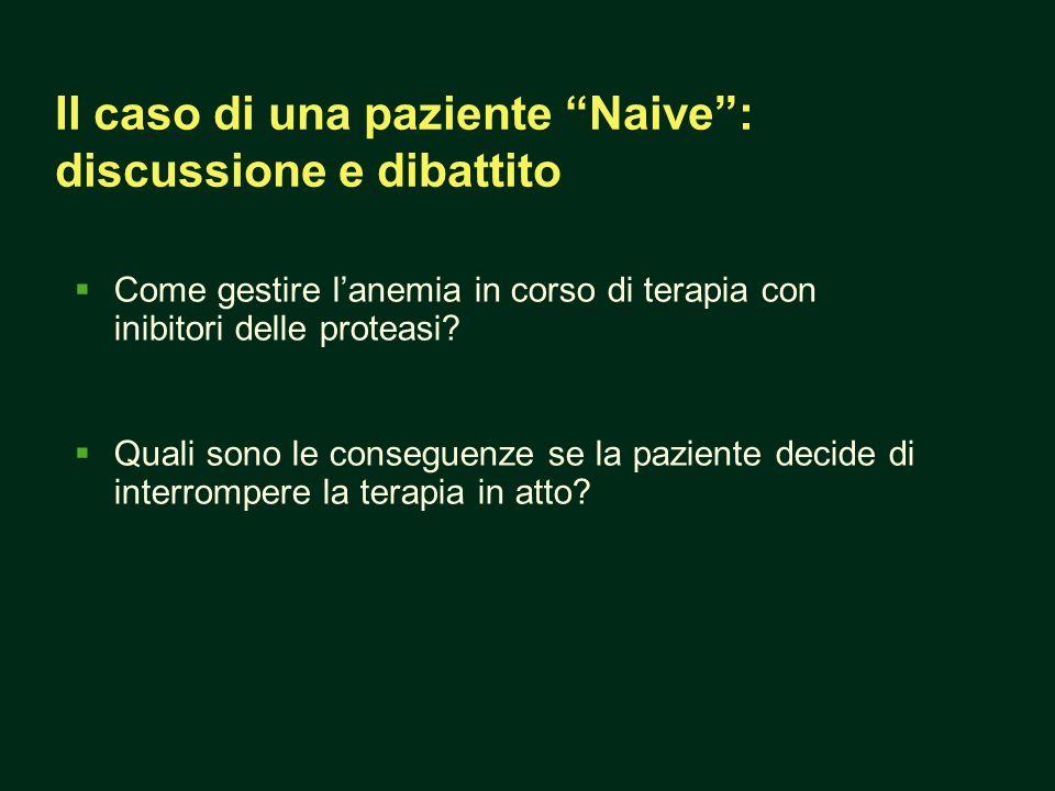Il caso di una paziente Naive : discussione e dibattito