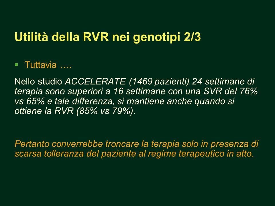 Utilità della RVR nei genotipi 2/3