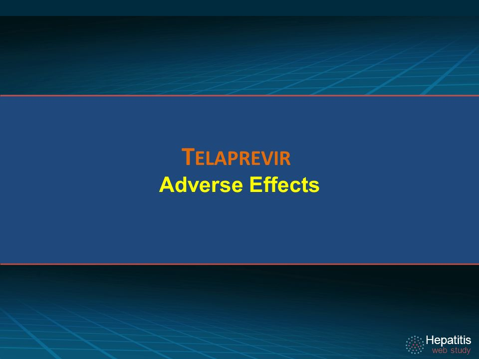 Telaprevir Adverse Effects