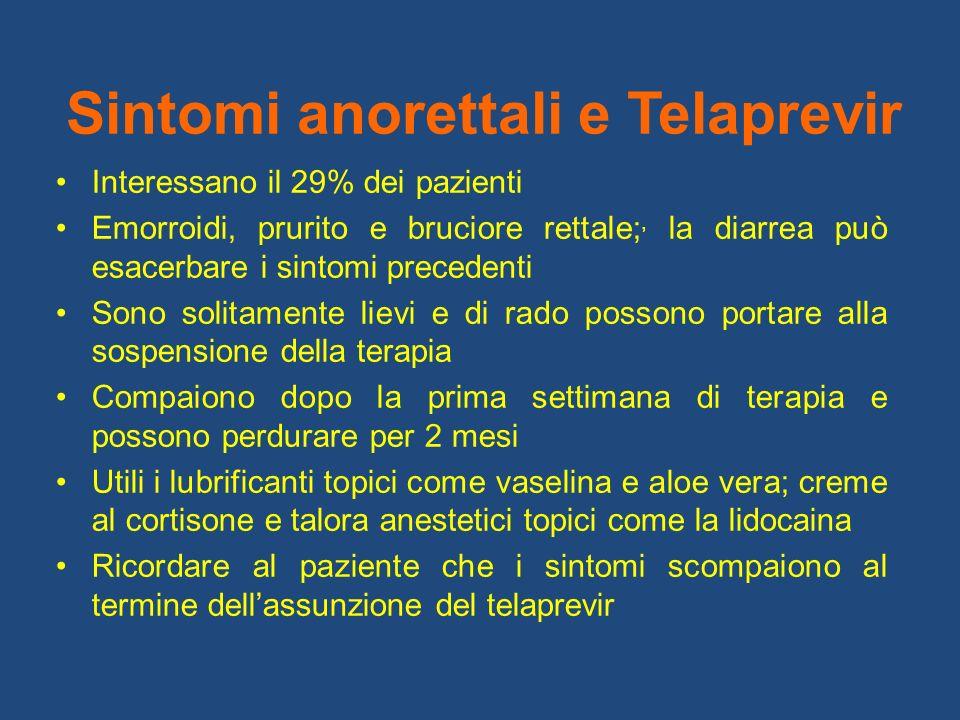 Sintomi anorettali e Telaprevir