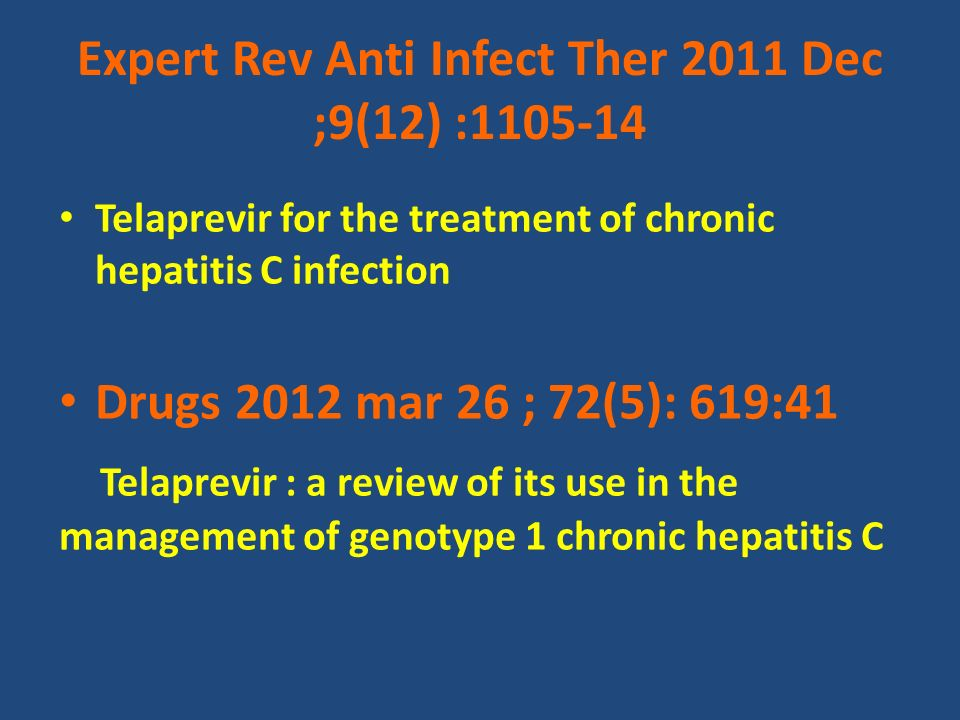 Expert Rev Anti Infect Ther 2011 Dec ;9(12) :1105-14