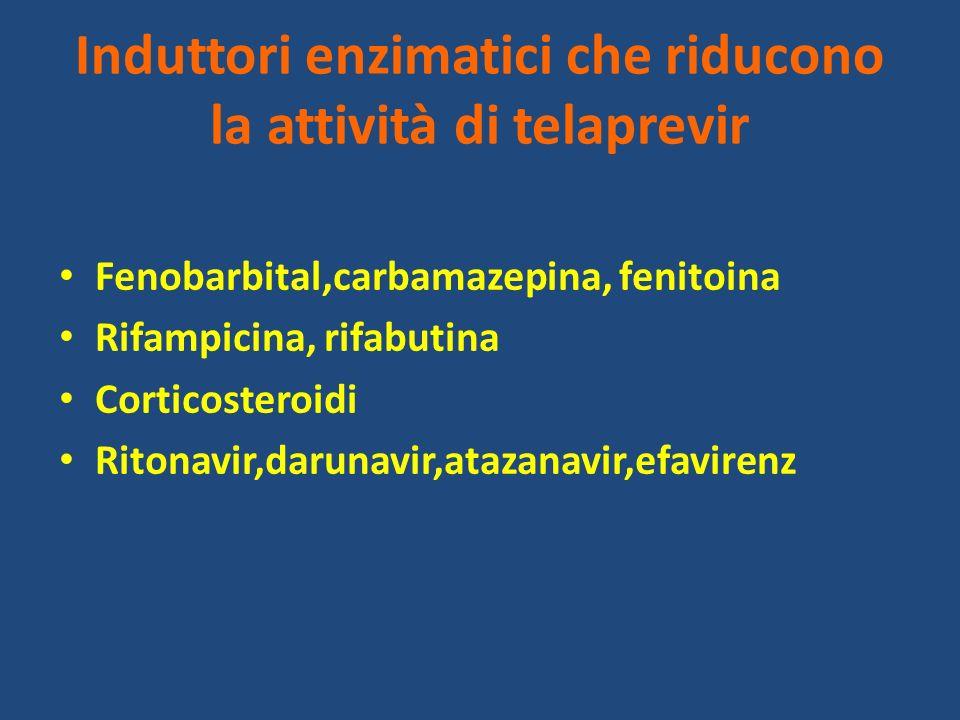 Induttori enzimatici che riducono la attività di telaprevir