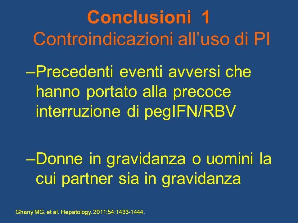 Conclusioni 1 Controindicazioni all'uso di PI