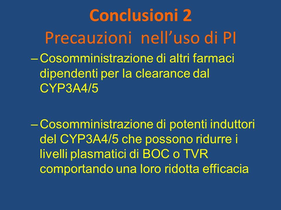 Conclusioni 2 Precauzioni nell'uso di PI