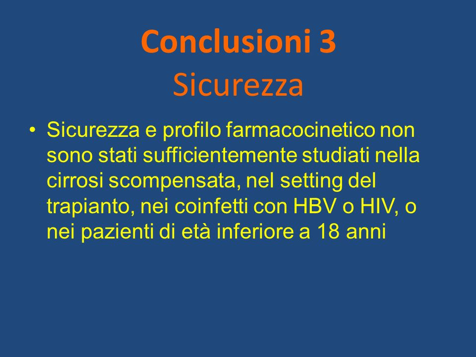 Conclusioni 3 Sicurezza