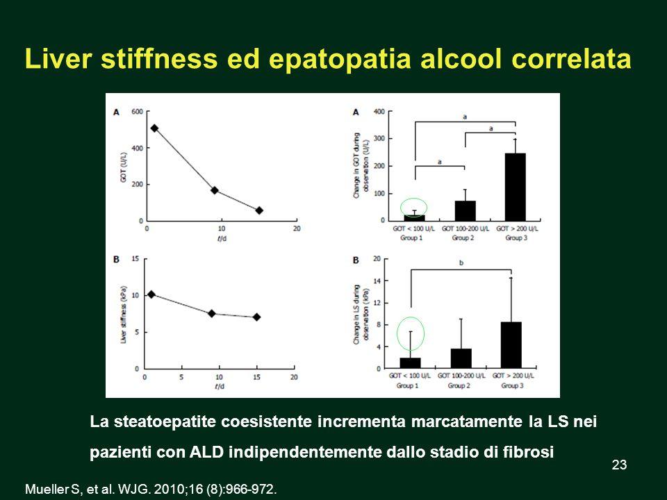 Liver stiffness ed epatopatia alcool correlata