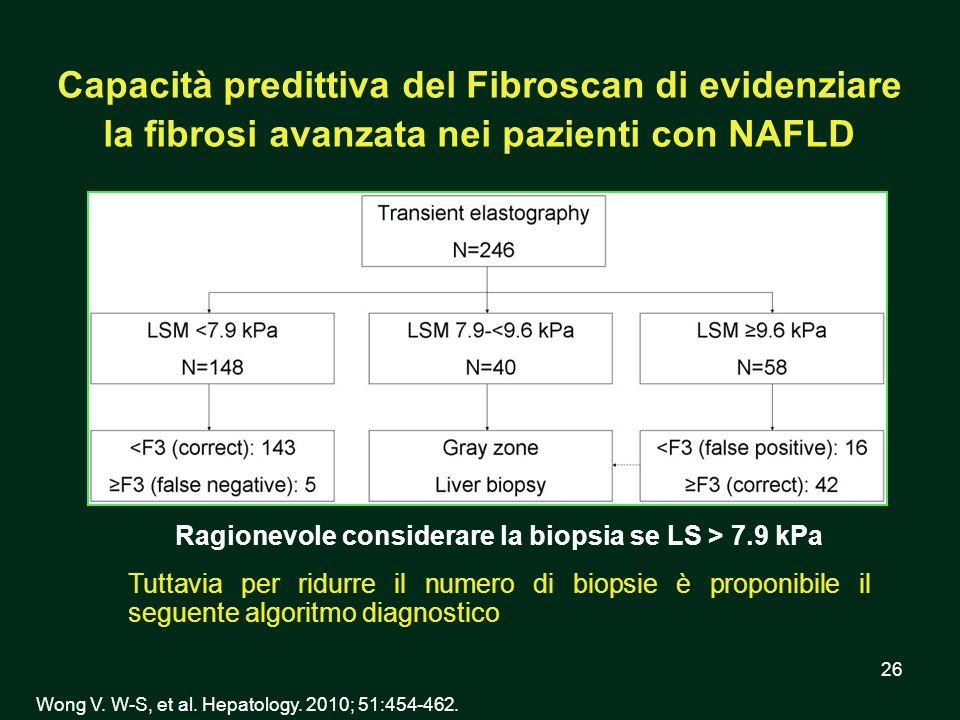 Ragionevole considerare la biopsia se LS > 7.9 kPa