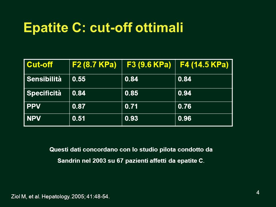 Epatite C: cut-off ottimali