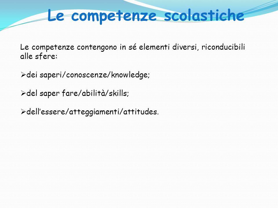Le competenze scolastiche