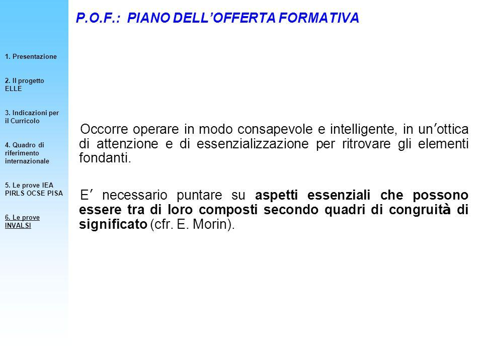P.O.F.: PIANO DELL'OFFERTA FORMATIVA