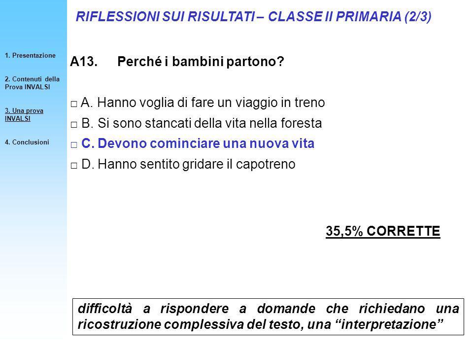 RIFLESSIONI SUI RISULTATI – CLASSE II PRIMARIA (2/3)