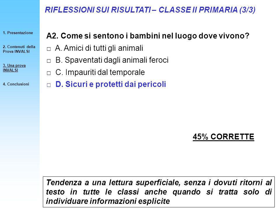 RIFLESSIONI SUI RISULTATI – CLASSE II PRIMARIA (3/3)