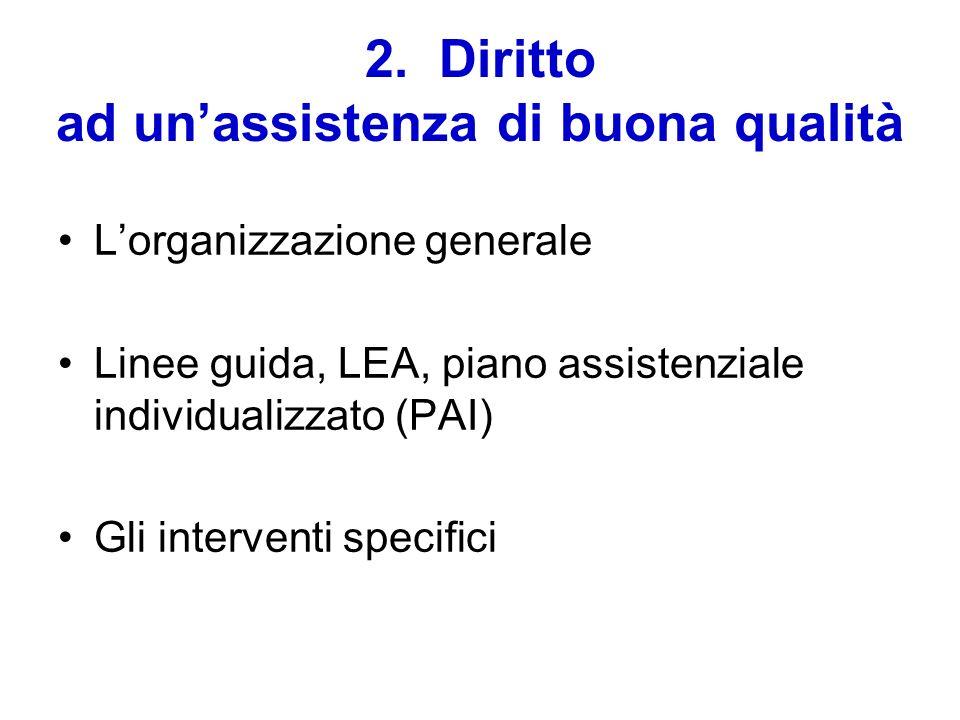 2. Diritto ad un'assistenza di buona qualità
