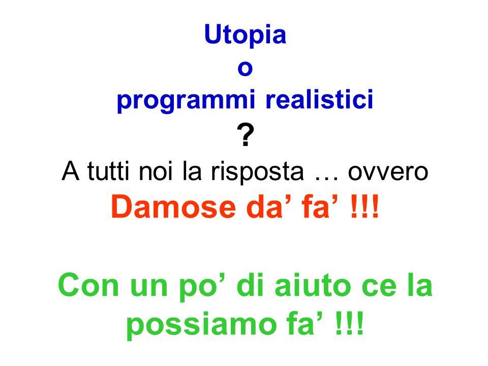 Utopia o programmi realistici