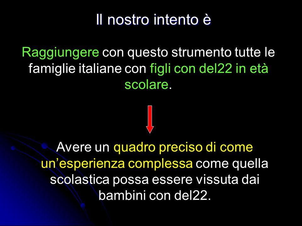 Il nostro intento è Raggiungere con questo strumento tutte le famiglie italiane con figli con del22 in età scolare.