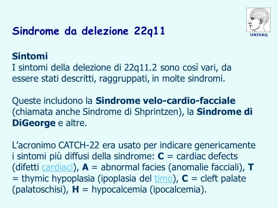 Sindrome da delezione 22q11