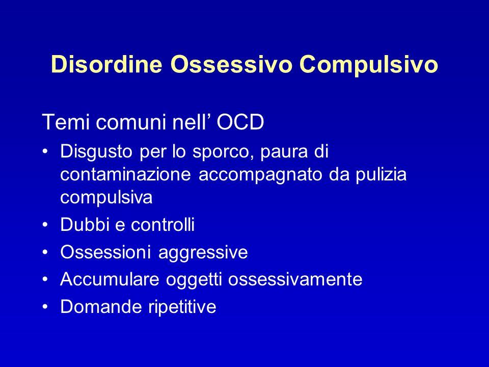 Disordine Ossessivo Compulsivo