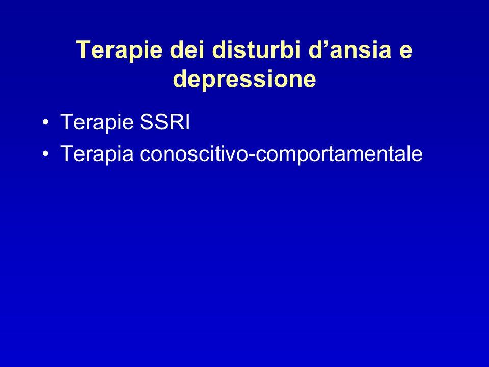 Terapie dei disturbi d'ansia e depressione