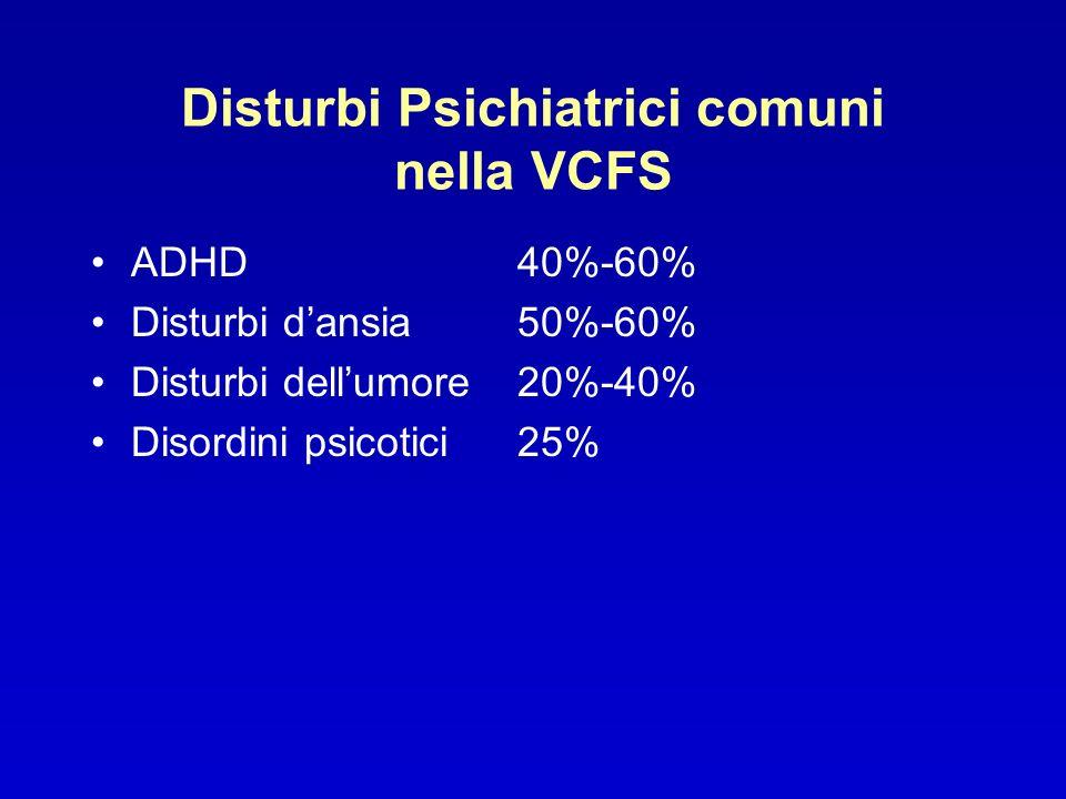 Disturbi Psichiatrici comuni nella VCFS
