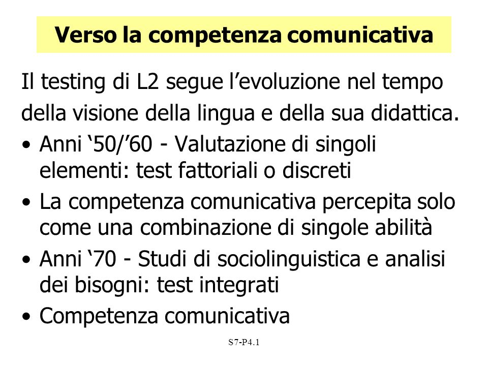 Verso la competenza comunicativa