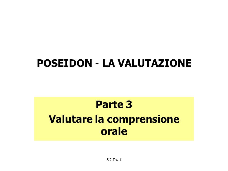 POSEIDON - LA VALUTAZIONE