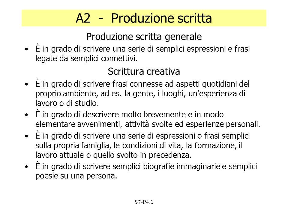 Produzione scritta generale