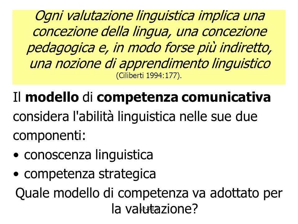 Quale modello di competenza va adottato per la valutazione