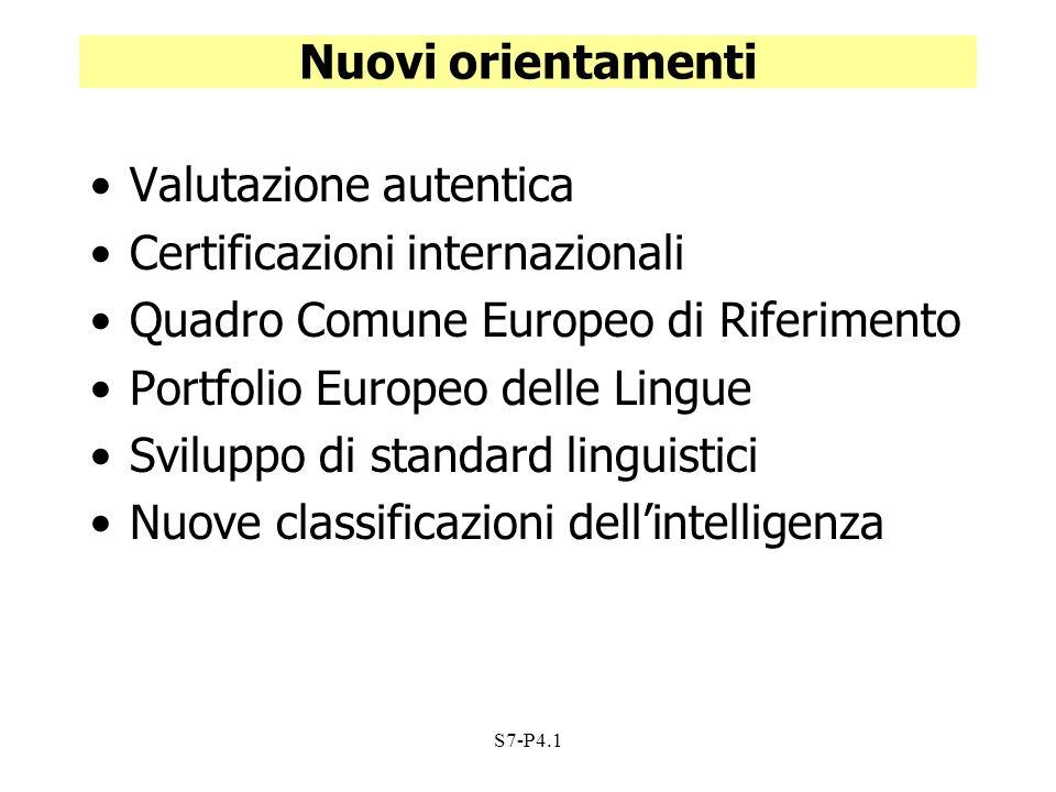Valutazione autentica Certificazioni internazionali