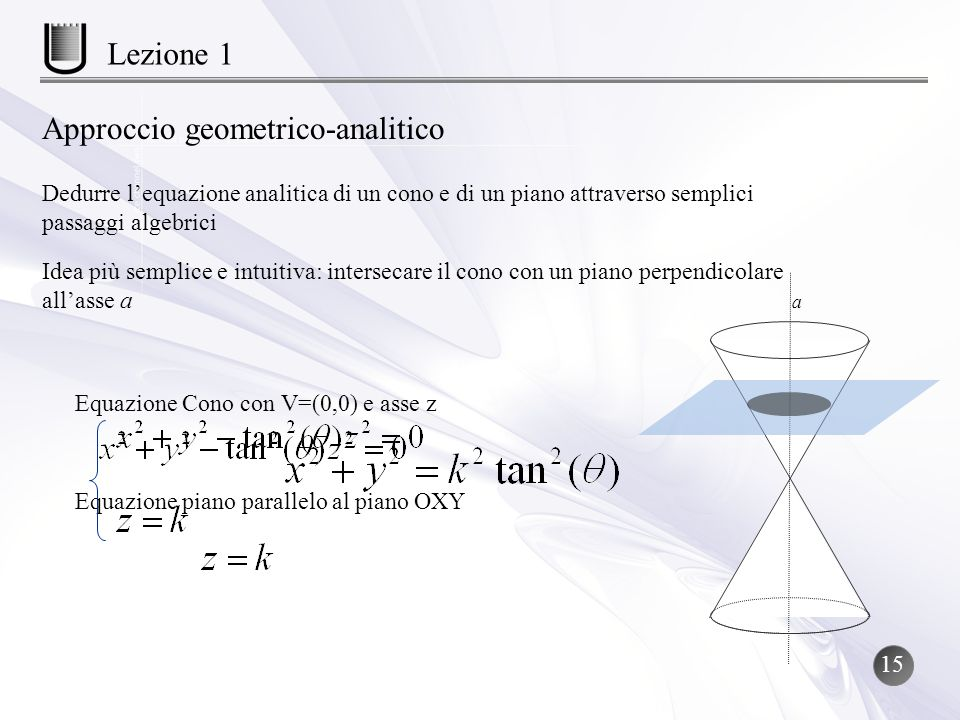 Approccio geometrico-analitico