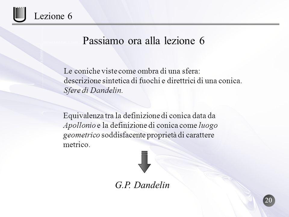 Passiamo ora alla lezione 6