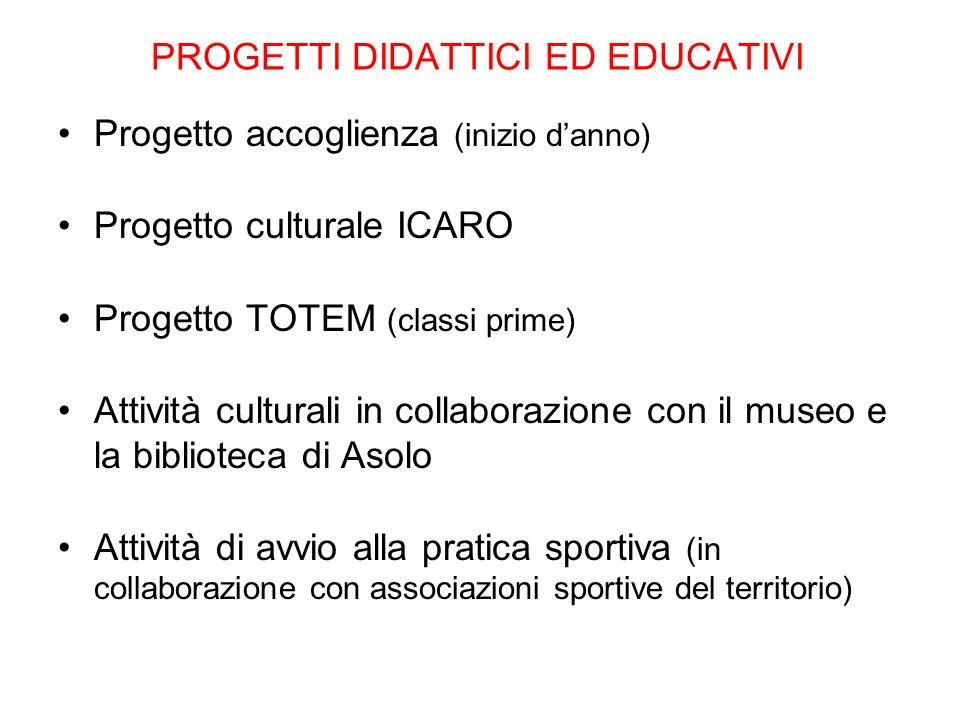 PROGETTI DIDATTICI ED EDUCATIVI