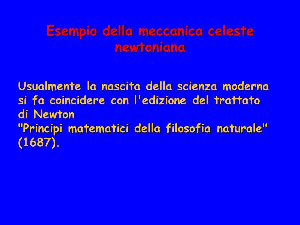 Esempio della meccanica celeste newtoniana