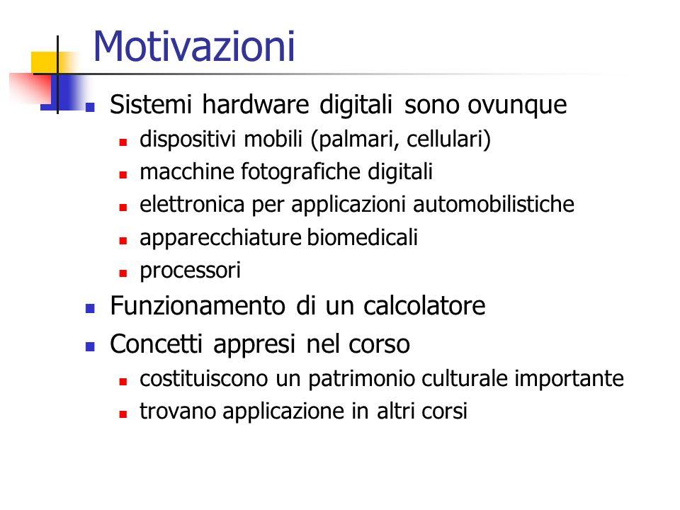 Motivazioni Sistemi hardware digitali sono ovunque