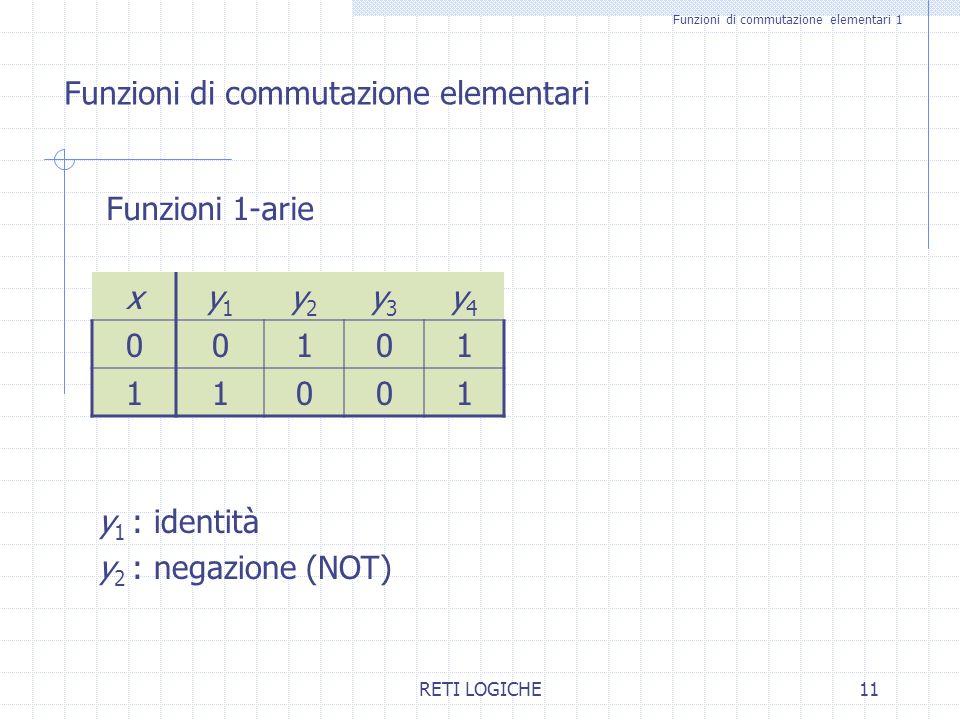 Funzioni di commutazione elementari 1