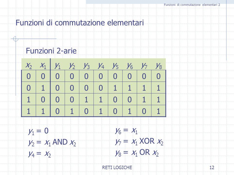 Funzioni di commutazione elementari 2