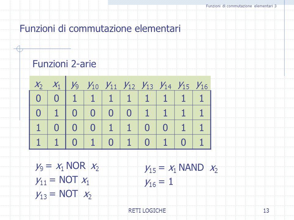 Funzioni di commutazione elementari 3
