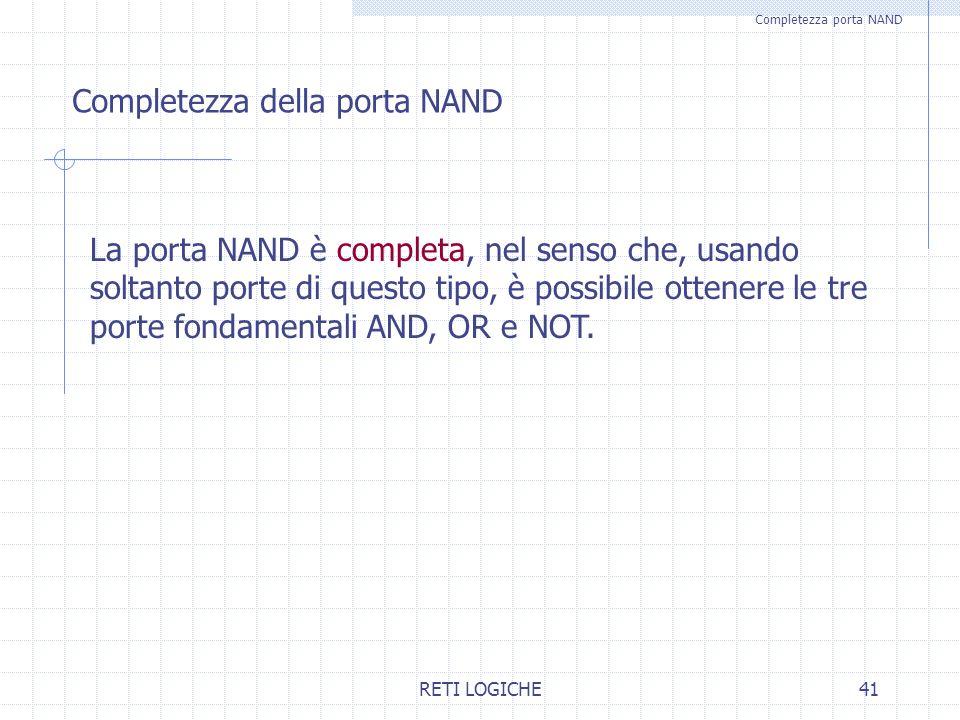 Completezza porta NAND