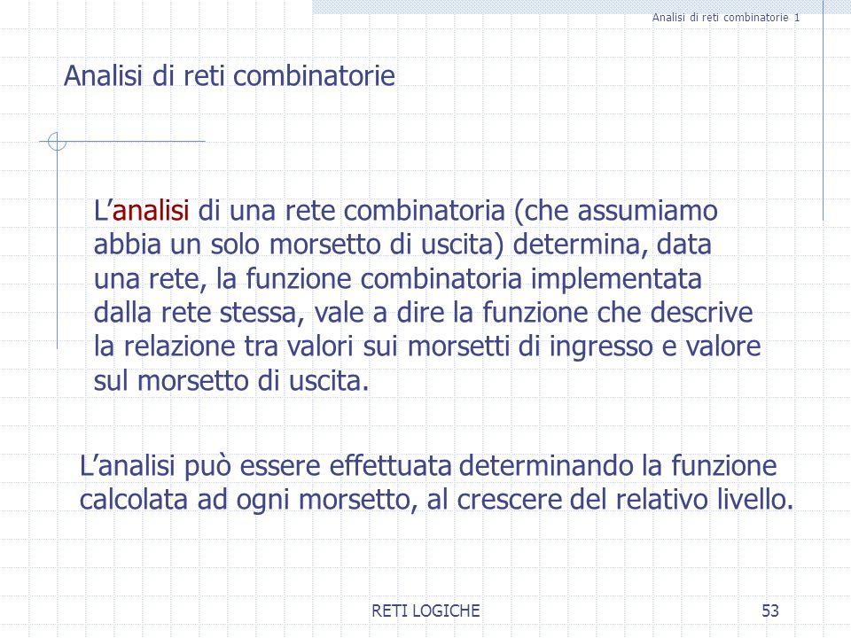 Analisi di reti combinatorie 1